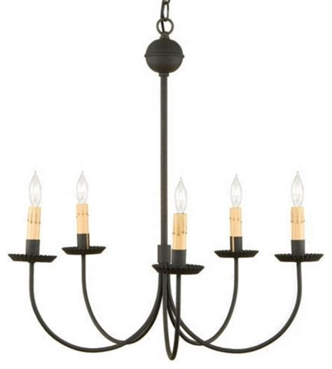 Wrought Iron Lighting Fixtures Kitchen Wrought Iron Colonial Chandelier Traditional Chandeliers By Saving Shepherd