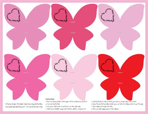 valentine s day lollipop flowers with free printables a valentine s day butterflies with free printables a
