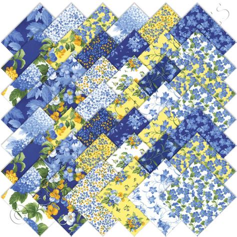 Quilt Fabrics by Moda Summer Iii Charm Pack Emerald City Fabrics