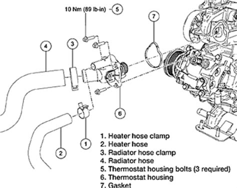 2007 Ford Focus Thermostat 2007 Ford Fusion Coolant Replacement Sensor Autos Post
