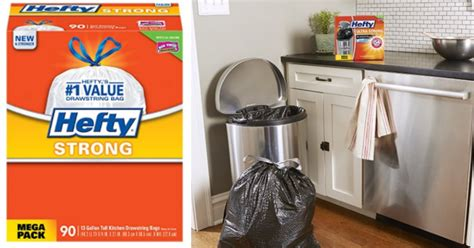 amazon hefty strong tall kitchen trash bags 90 count only