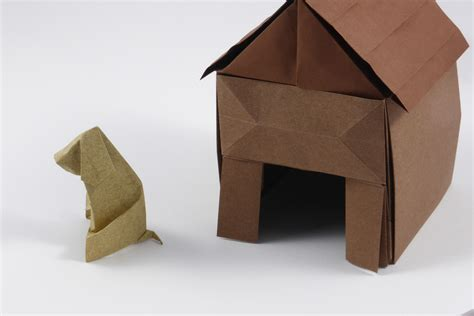 Folded Paper House - modular origami architecture and landscape models folded