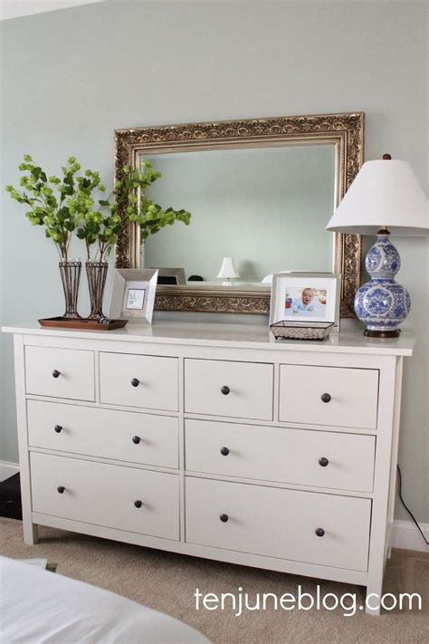 Master Bedroom Dressers | ten june master bedroom dresser vignette
