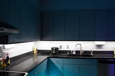 Toe Kick Lighting In Kitchen Led Kitchen Cabinet And Toe Kick Lighting Contemporary Kitchen St Louis By