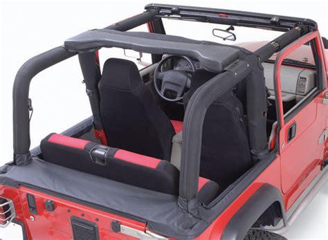 Do Jeep Wranglers Roll Easily Jeep Wrangler Denim Black Roll Bar Cover Kit 1992 1995