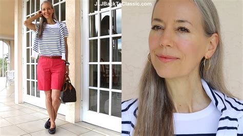 preppy for women over 50 classic fashion style over 40 50 preppy stripe sweater