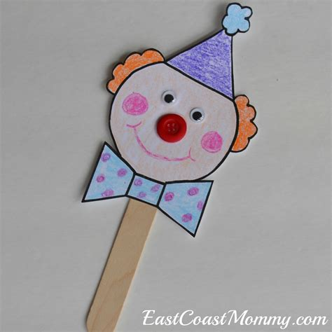 clown template preschool east coast circus crafts with free printable