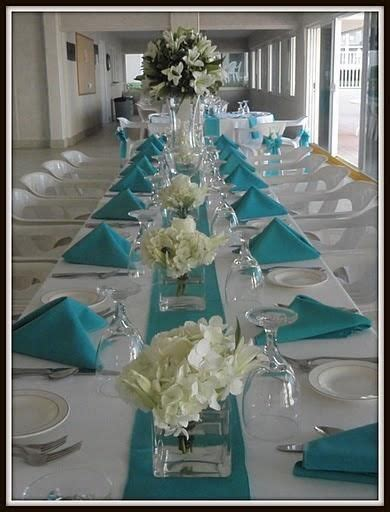 17  best ideas about Teal Wedding Centerpieces on