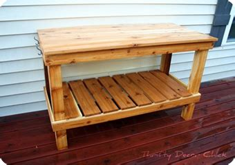 pottery barn potting bench august in review from thrifty decor chick