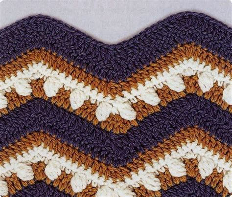 wave pattern in crochet crochet wave ripple pattern stitch knitting bee