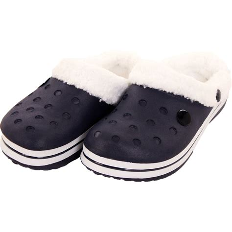 Slippers Sandals Mules And Clogs Garden Shoes White womens slip on fur lined clogs shoes fleece mules sandals