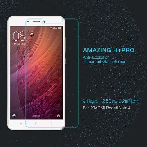 Tempered Glass Redmi Note 4 xiaomi redmi note 4 tempered glass nillkin h pro 2 5d