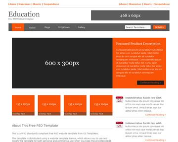 education free psd website template psd templates os