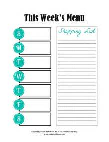menu planning template with grocery list pin by karla allmyheart on menu planning ideas