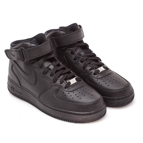 Nike Air 1 Mid All Black nike air 1 mid 07 from the summer 17 collection in black