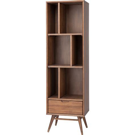 Small Modern Bookshelf nuevo modern furniture hgst118 baas small bookcase in walnut w 6 open areas 1 drawer