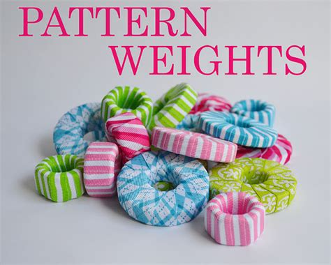 pattern weights for sewing sugar tart crafts washer weights