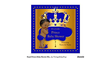 Royal Blue Baby Shower Invitations by Royal Prince Baby Shower Blue Boy Crown Ethnic Invitation