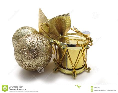 gold christmas tree ornaments stock photos image 35894723