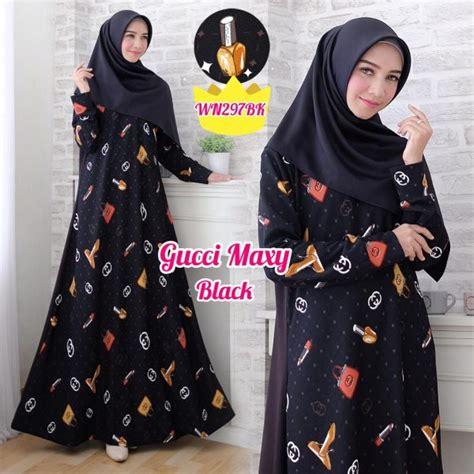 Harga Gamis Gucci gamis scuba motif gucci baju muslim murah butik jingga