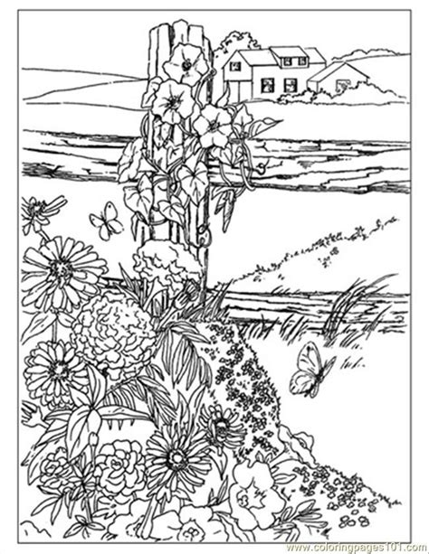 coloring pages of landscapes landscapes coloring pages for adults az coloring pages