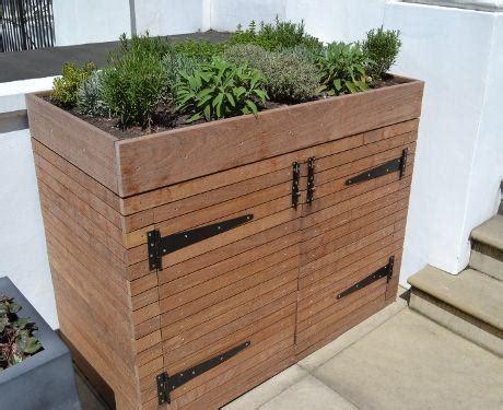 Planter Box With Bench Plans Tuinkast Fietsenberging Op Maat Werkspot