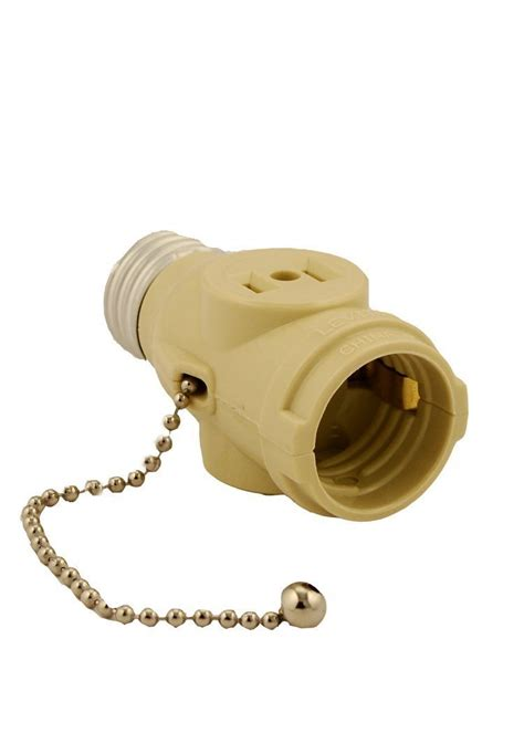 light socket adapter with pull chain leviton 1406 i 660 watt 125 volt two outlet with pull