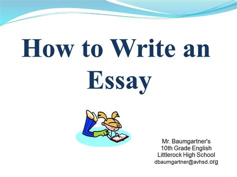 Learn How To Write Essays by How To Write An Essay