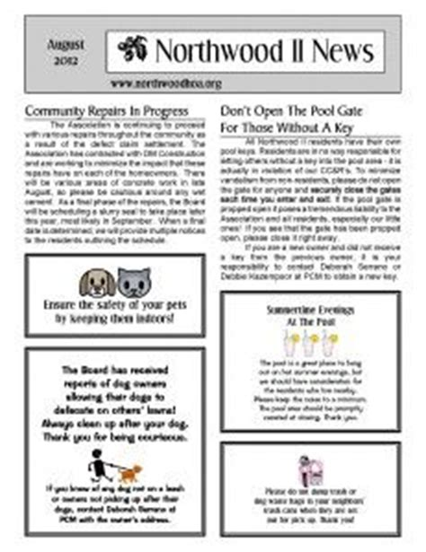 Make A Monthly Newsletter For Your Neighborhood Association With Pre Designed Templates From Hoa Community Newsletter Templates