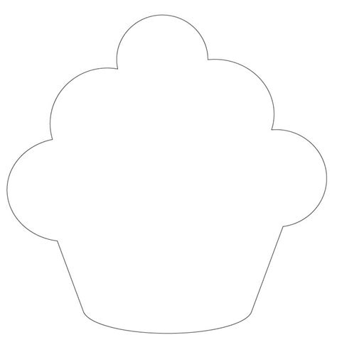 cupcake template to print printable cupcake template coloring page for