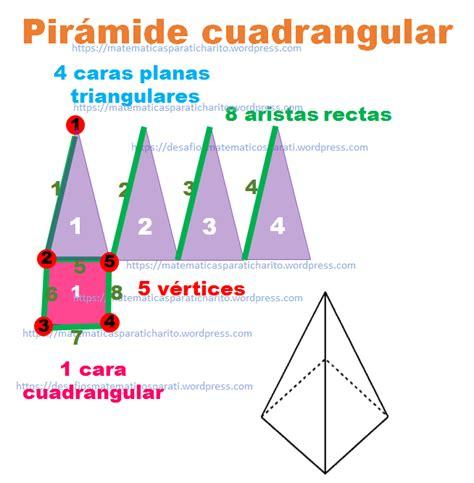 pirámide de base cuadrada pir 225 mide cuadrangular matematicas para ti