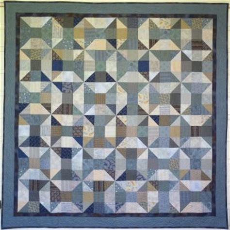 Gourmetquilter Because Quilting Is Delicious Big Block Big Quilt Blue Reels Using 5 5 Inch Square Quilt Template