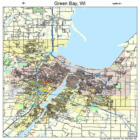 green bay map green bay wisconsin map 5531000