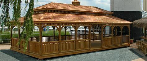 beautiful rectangular gazebos create  backyard getaway