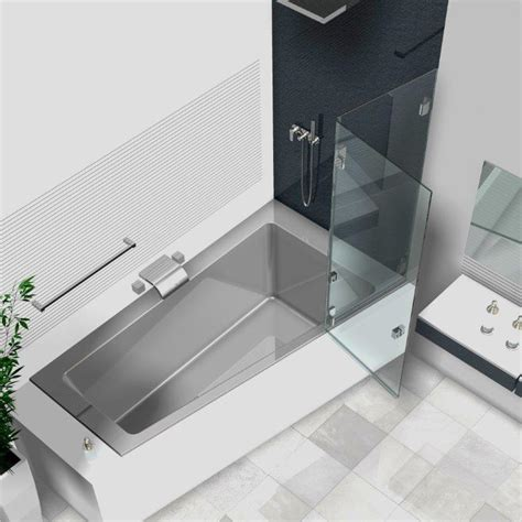 badewanne duschwand glas duschwand badewanne badewannenaufs 228 tze aus glas glasduschen