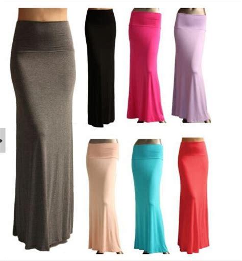 Maxi Rok Jersey Aliyahsaliyyah Bata Xl 2016 new fashion brand summer uk plus size color fold waist banded minimalist