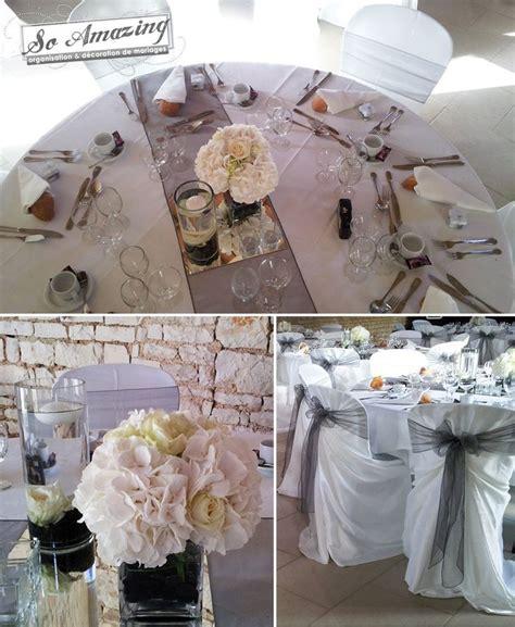 theme mariage rose et argent d 233 coration de mariage gris perl 233 anthracite argent 233 blanc