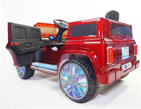 land rover jeep style led wheel edition kids land rover defender style kids ride