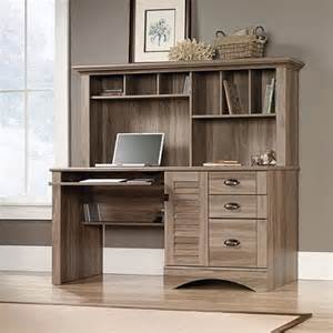 sauder harbor view computer desk  hutch salt oak walmartcom