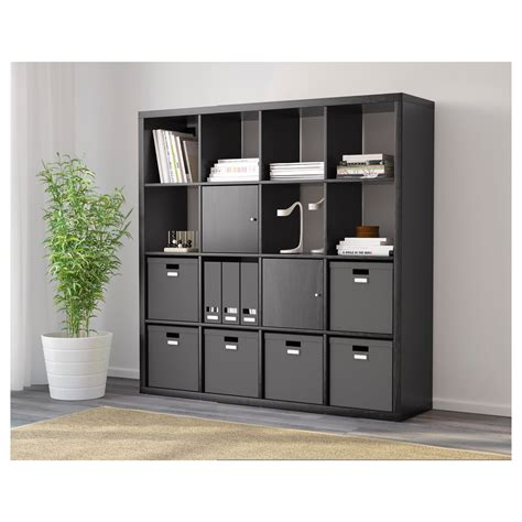 ikea gestell kallax kallax shelf unit black brown ikea arafen