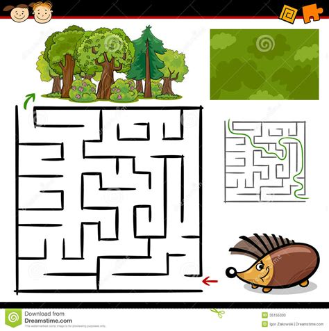cartoon maze or labyrinth game stock photo image 35155330