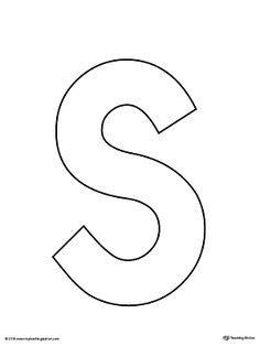 uppercase letter template printable alphabet
