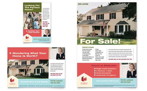 Home Real Estate Flyer Ad Template Word Publisher House For Sale Ad Template