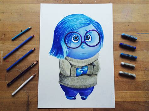 how to a to outside how to draw sadness from inside out como dibujar a tristeza de intensamente