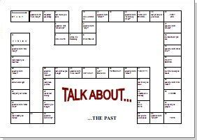 past tense printable board games board games and templates page four esl lounge premium