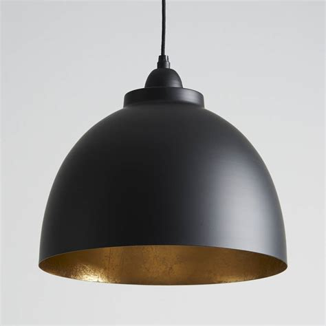 pendant lighting black and gold pendant light by horsfall wright