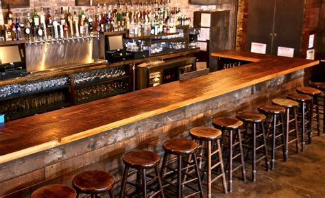 top of the bar bar tops portfolio category brooklyn reclaimed