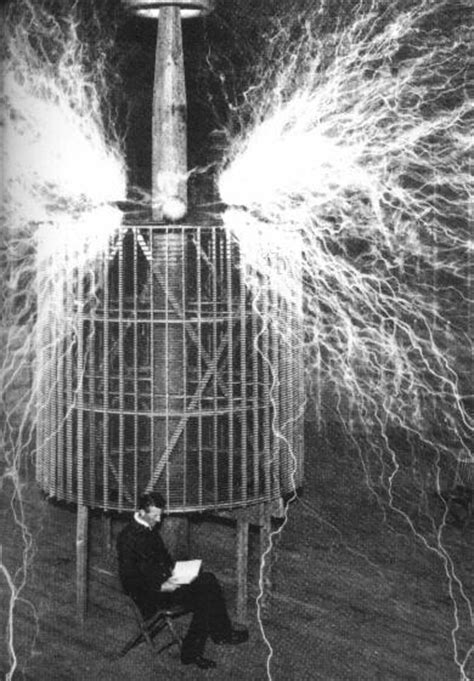 Tesla Reading Nikola Tesla Images Tesla Reading By The Light Of The