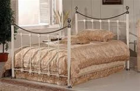 Metal Beds Oxford 4ft 120cm Small Double Ivory Bed Frame 120cm Bed Frame
