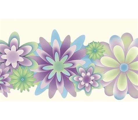 purple flower wallpaper uk purple and blue wild flower wallpaper wall border